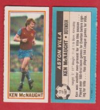 Aston Villa Ken McNaught 13